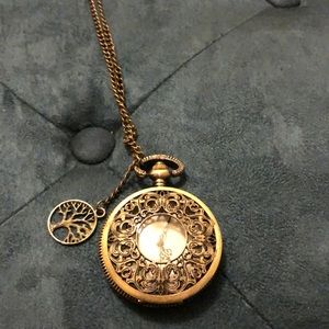 Stopwatch inspired necklace
